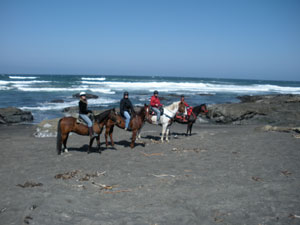 Horseback riding on the Mendocino Coast