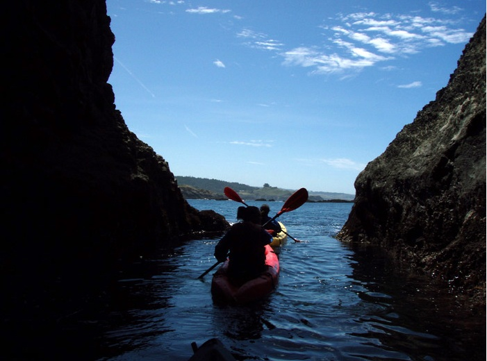 Kayaking the coves on the Mendocino Coast